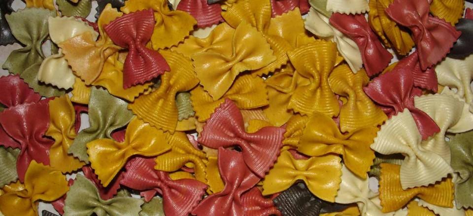Pâtes italiennes de couleur, les arômes